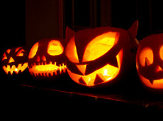Halloween pumpkins. Photo by Richard Blakeborough.