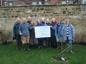 Volunteers at Jesmond Community Orchard