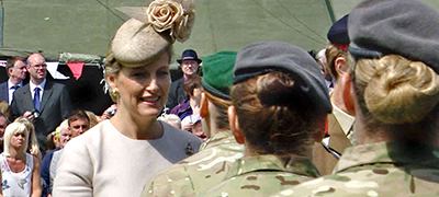 HRH the Countess of Wessex presents medals to local army medics