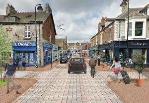 A photomontage showing what Acorn Road might look like