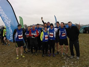 The promoted Jesmond Joggers senior and veteran team at Prudhoe.