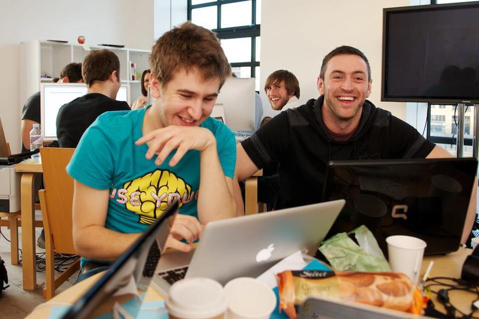 Lee Halpin (right) at Project Turnaround, BALTIC, November 2011