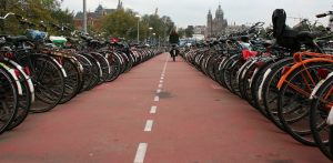 Amsterdam, city full of bicycles. Photo taken from Flickr, used under the creative commons license by siebe