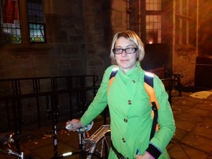 Katja Leyendecker, chair of Newcastle Cycling Campaign