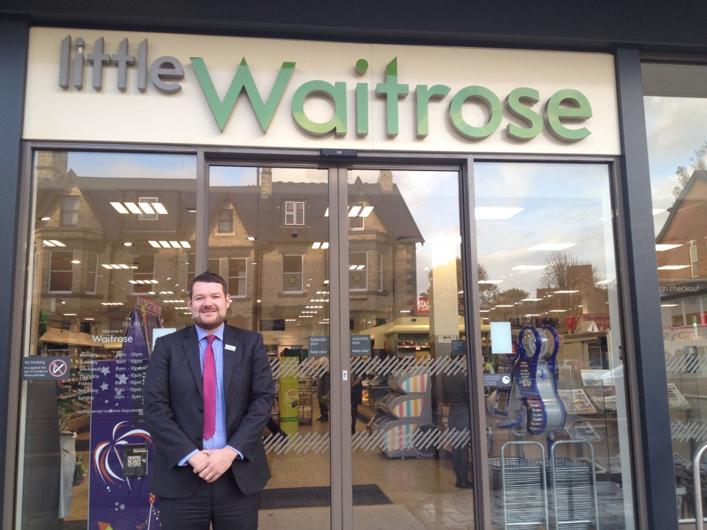 Rob Brewis, Manager of Waitrose Jesmond