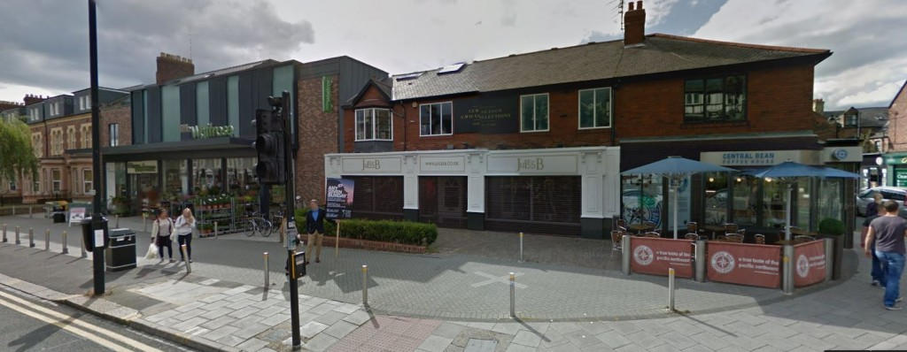 Waitrose (left) and Central Bean (right) on Osborne Road (courtesy Google Maps)